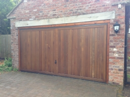 Wood Effect Up & Over Garage Doors