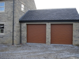 Wood Effect Roller Garage Doors