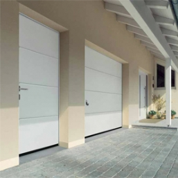 White Garage Side Doors